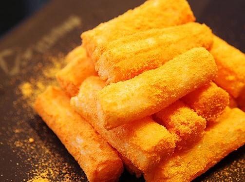Korean rice crackers shake cheese