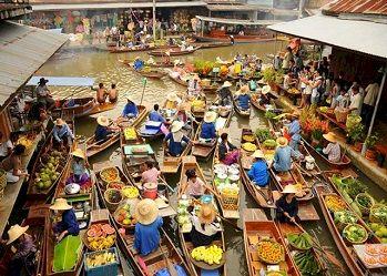 Đi tour chợ nổi Khlong Lat Mayom Bangkok thưởng thức món ngon đặc biệt